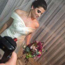 sessão de fotos para o dia da noiva